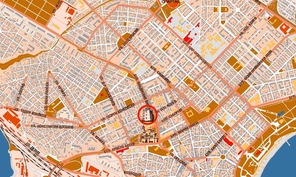 About Caprice Hotel In Varna - Varna map